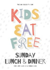 Sunday – Kids Eat Free.