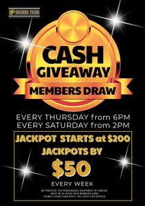 Members Draw Cash Giveaway